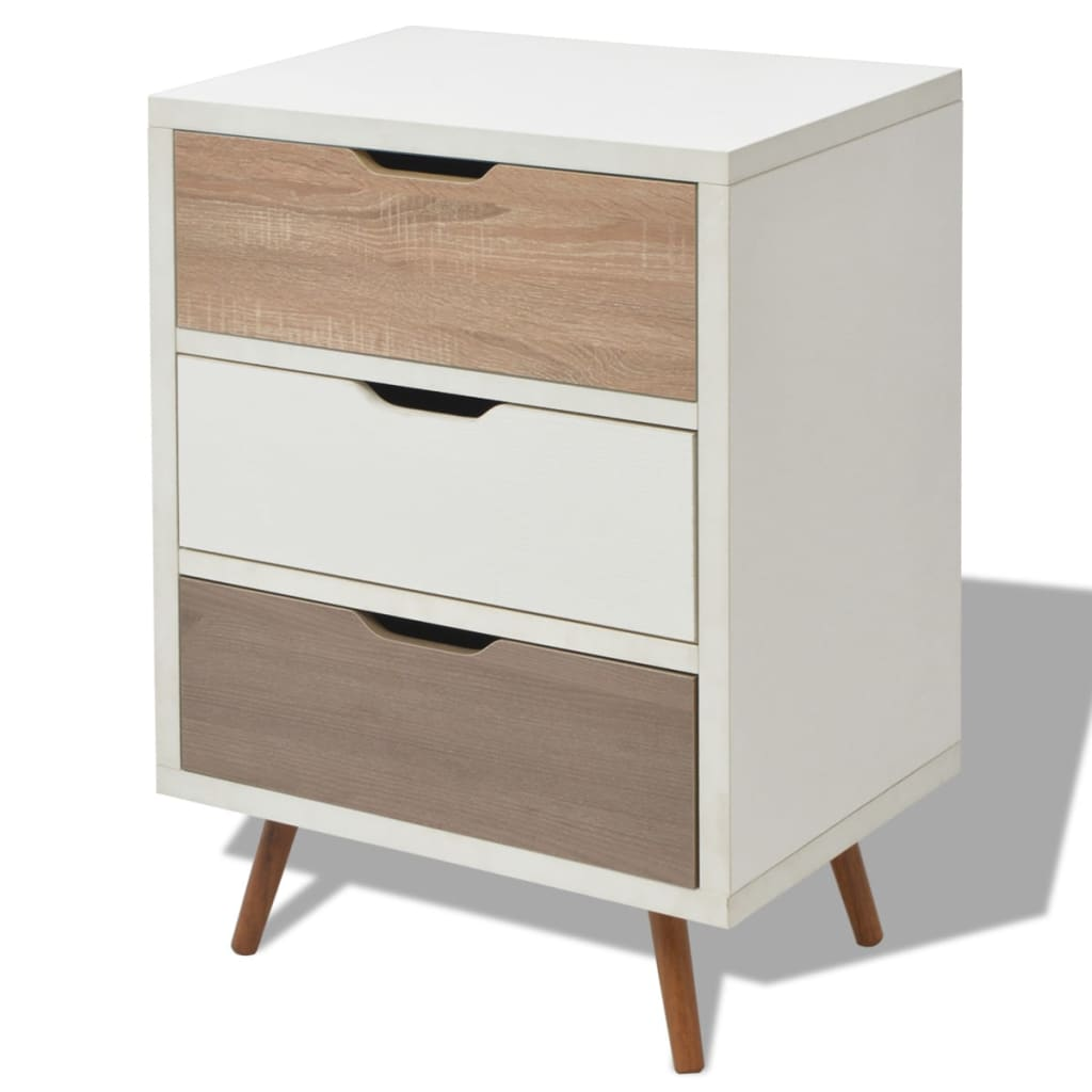 vidaxl sideboard with 3 drawers 60x39x83 cm white vidaxl. Black Bedroom Furniture Sets. Home Design Ideas