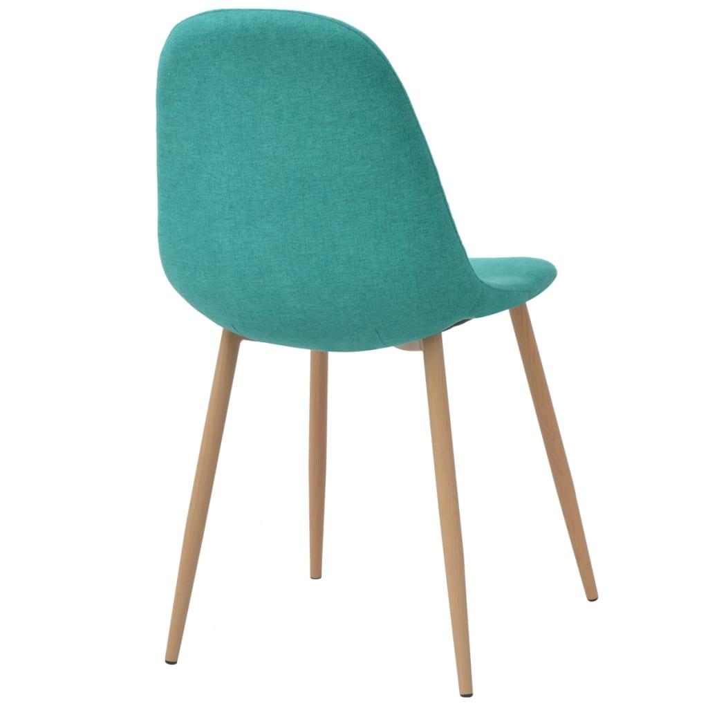 vidaxl esszimmerst hle 2 stk gr n stoff g nstig kaufen. Black Bedroom Furniture Sets. Home Design Ideas