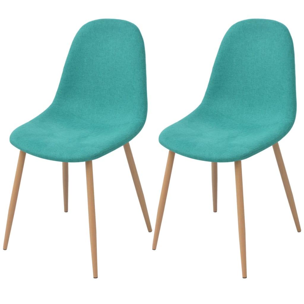 vidaXL Krzesło do jadalni 2 szt., zielona tkanina