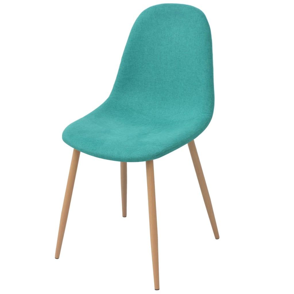 Vidaxl sillas de comedor 4 unidades tela verde Sillas para comedor tapizadas en tela
