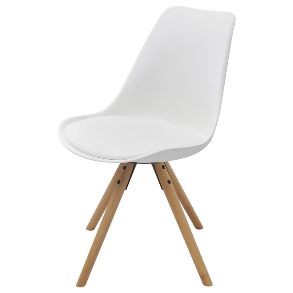 Acheter vidaxl chaise de salle manger 4 pcs cuir for Chaise cuir blanc salle a manger