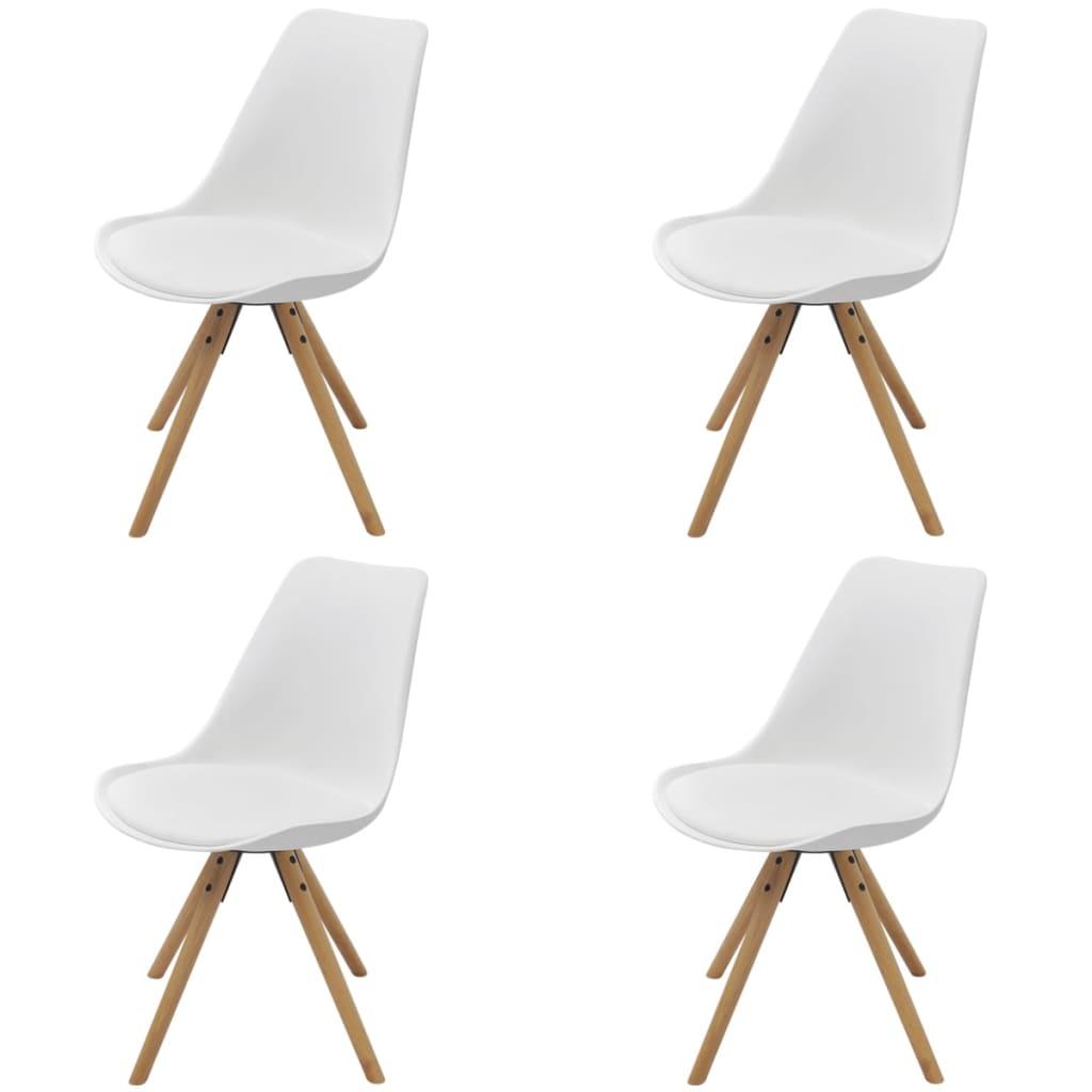 Vidaxl sillas de comedor 4 unidades cuero artificial - Sillas comedor cuero ...