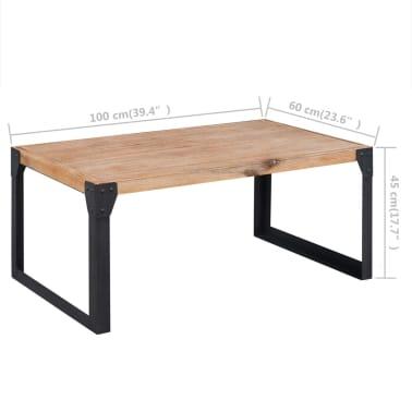 acheter vidaxl table basse bois d 39 acacia massif 100 x 60 x 45 cm pas cher. Black Bedroom Furniture Sets. Home Design Ideas