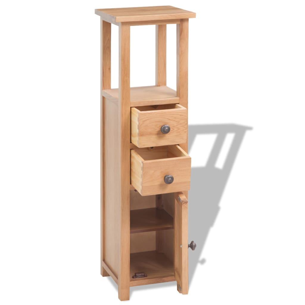vidaxl tag re d angle ch ne massif 26 x 26 x 94 cm marron. Black Bedroom Furniture Sets. Home Design Ideas
