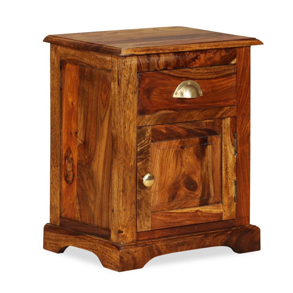 acheter vidaxl table de chevet bois de sheesham massif 40. Black Bedroom Furniture Sets. Home Design Ideas