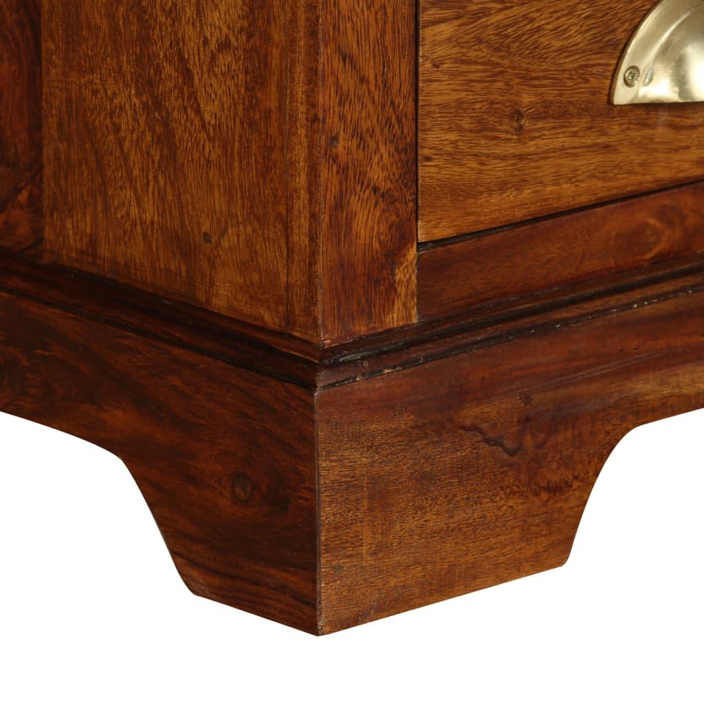 Acheter vidaxl meuble tv bois de sheesham massif 120 x 40 for Meuble 30 cm de large