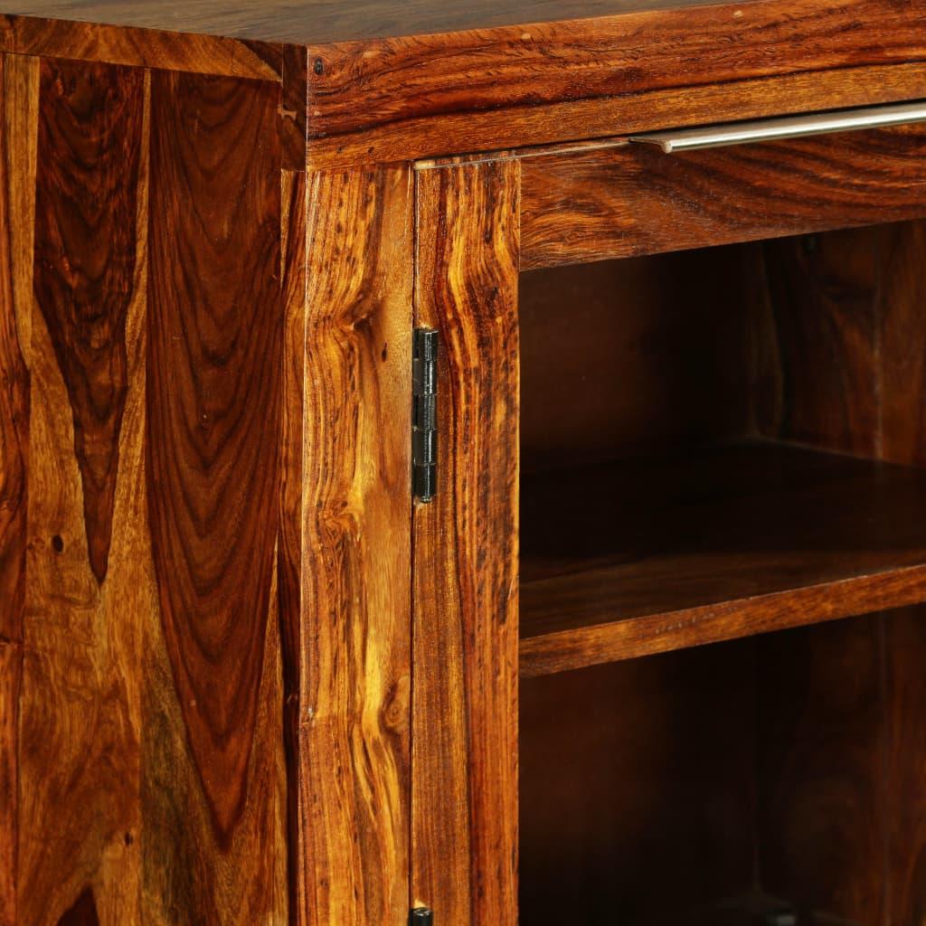 Vidaxl aparador de madera maciza de sheesham 100x35x140 cm - Armarios de madera maciza ...