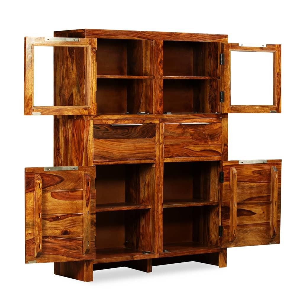 Lider Artesanato Pedreira ~ vidaXL Aparador de madera maciza de sheesham 100x35x140 cm vidaXL es