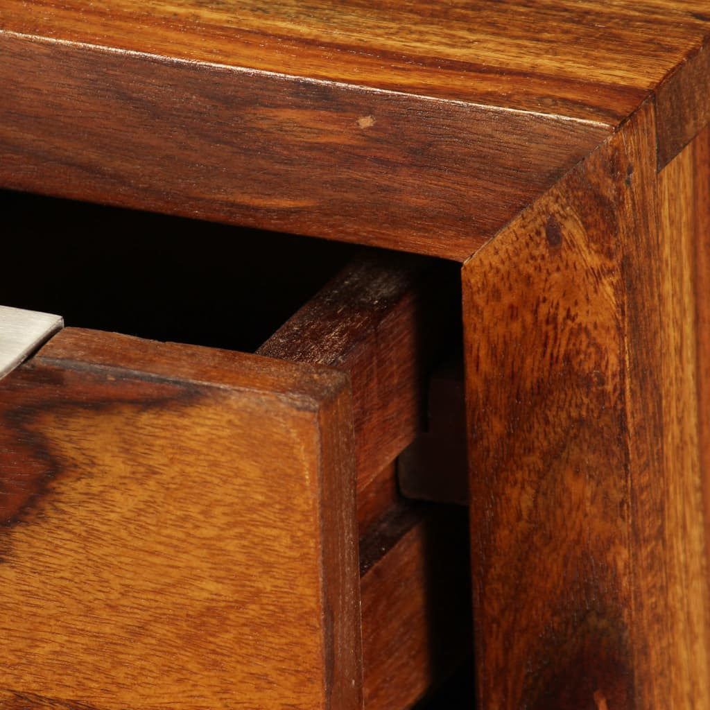 acheter vidaxl meuble tv bois de sheesham massif 120 x 30