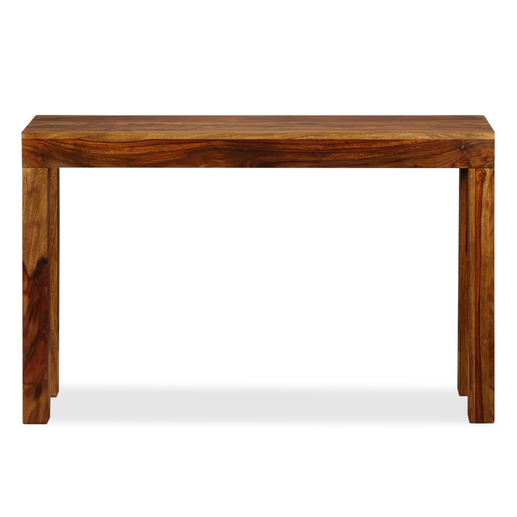 Acheter vidaxl table console bois de sheesham massif 120 x for Table cuisine 75 x 75