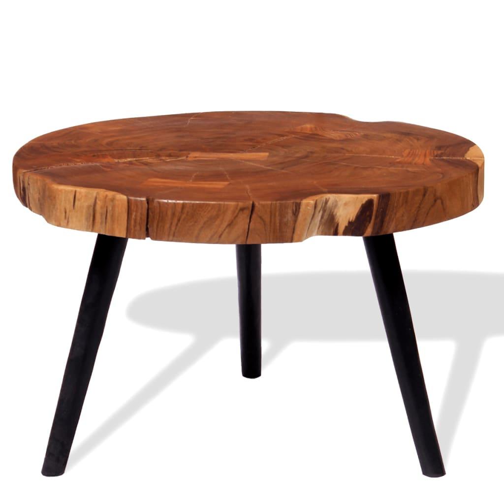 vidaXL tömör akácfa rönk dohányzóasztal (55-60) x 40 cm