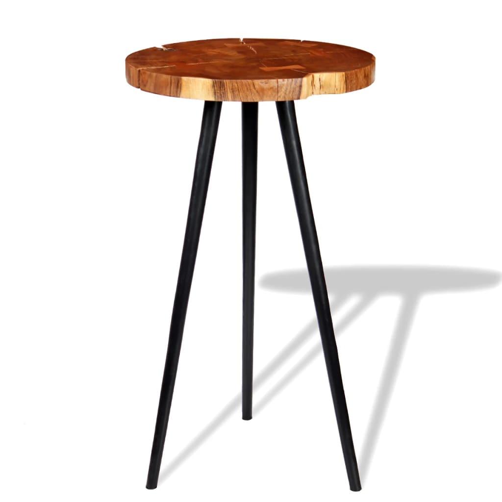 vidaXL tömör akácfa rönk bárasztal (55-60) x 110 cm