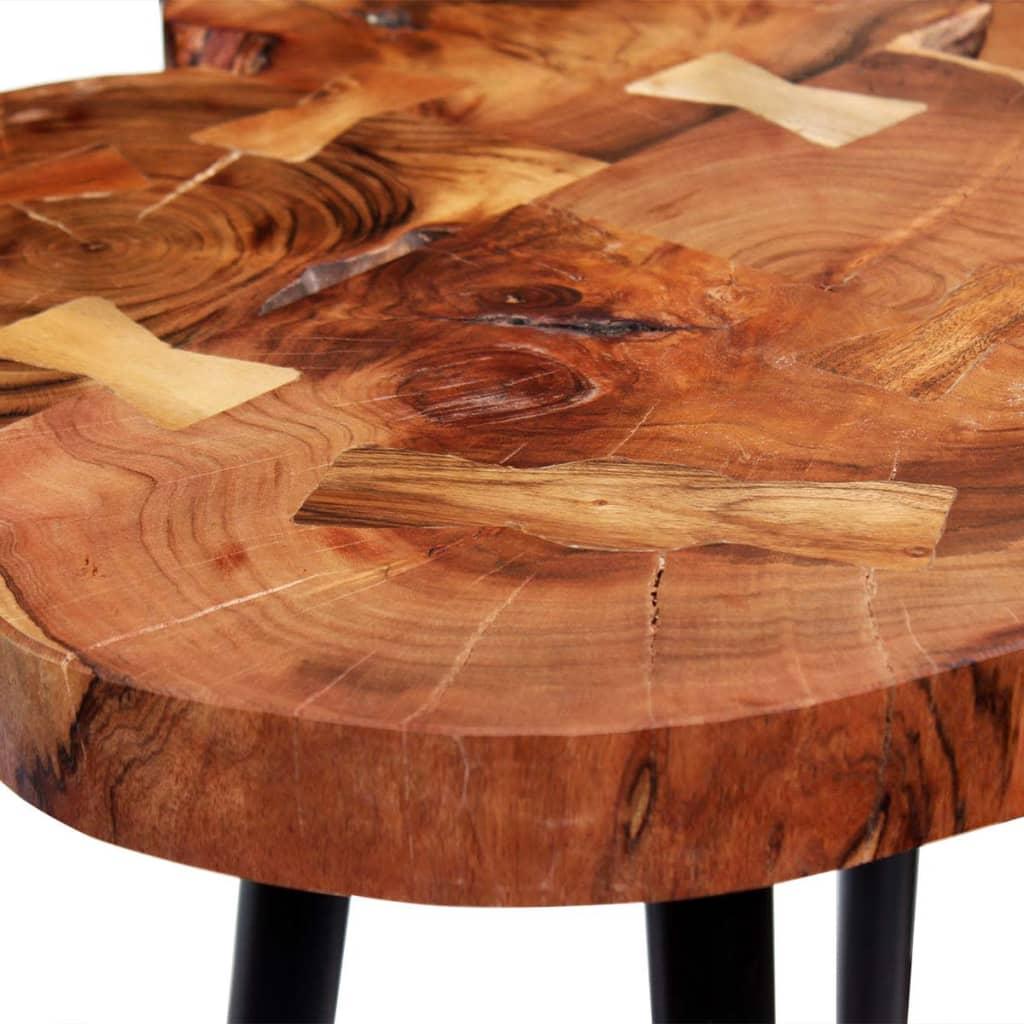 Vidaxl Log Bar Table Solid Acacia Wood 90x60x110 Cm
