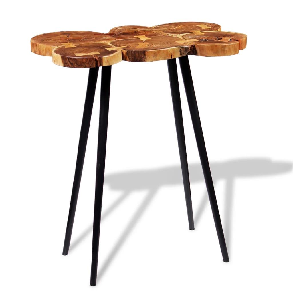 Vidaxl log bar table solid acacia wood 90x60x110 cm for Table bar 85 cm