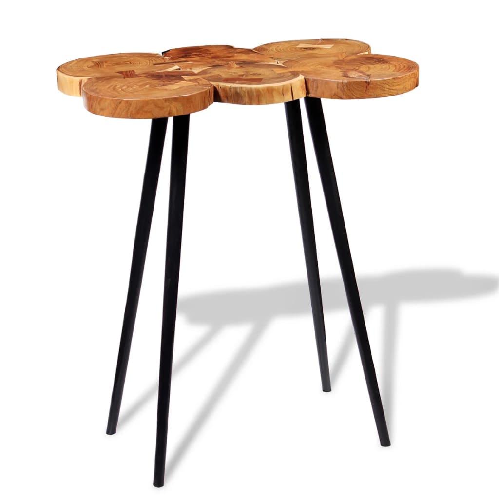 vidaXL tömör akácfa rönk bárasztal 90 x 60 110 cm