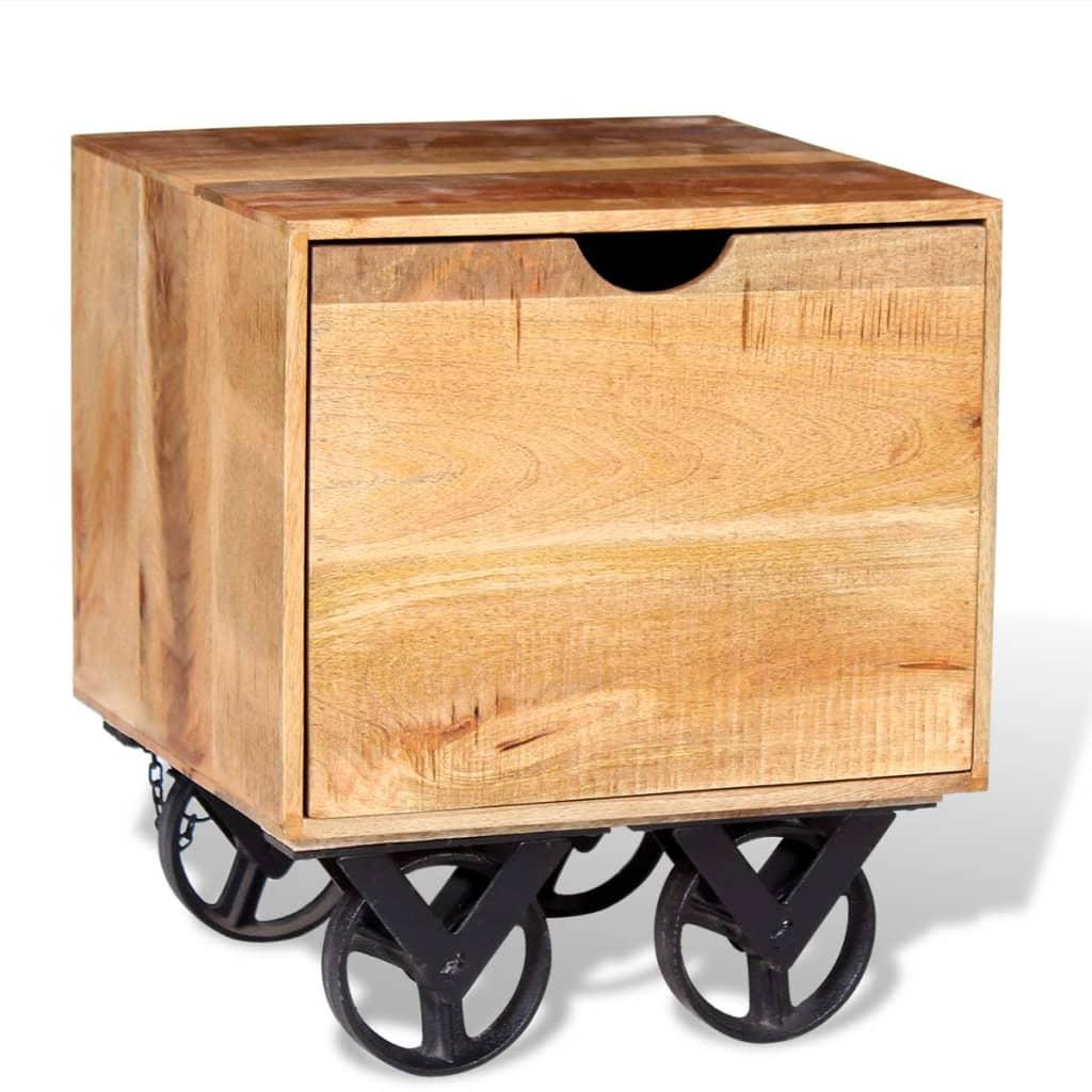 vidaXL Szafka z szufladą drewna mango 40x40x45 cm