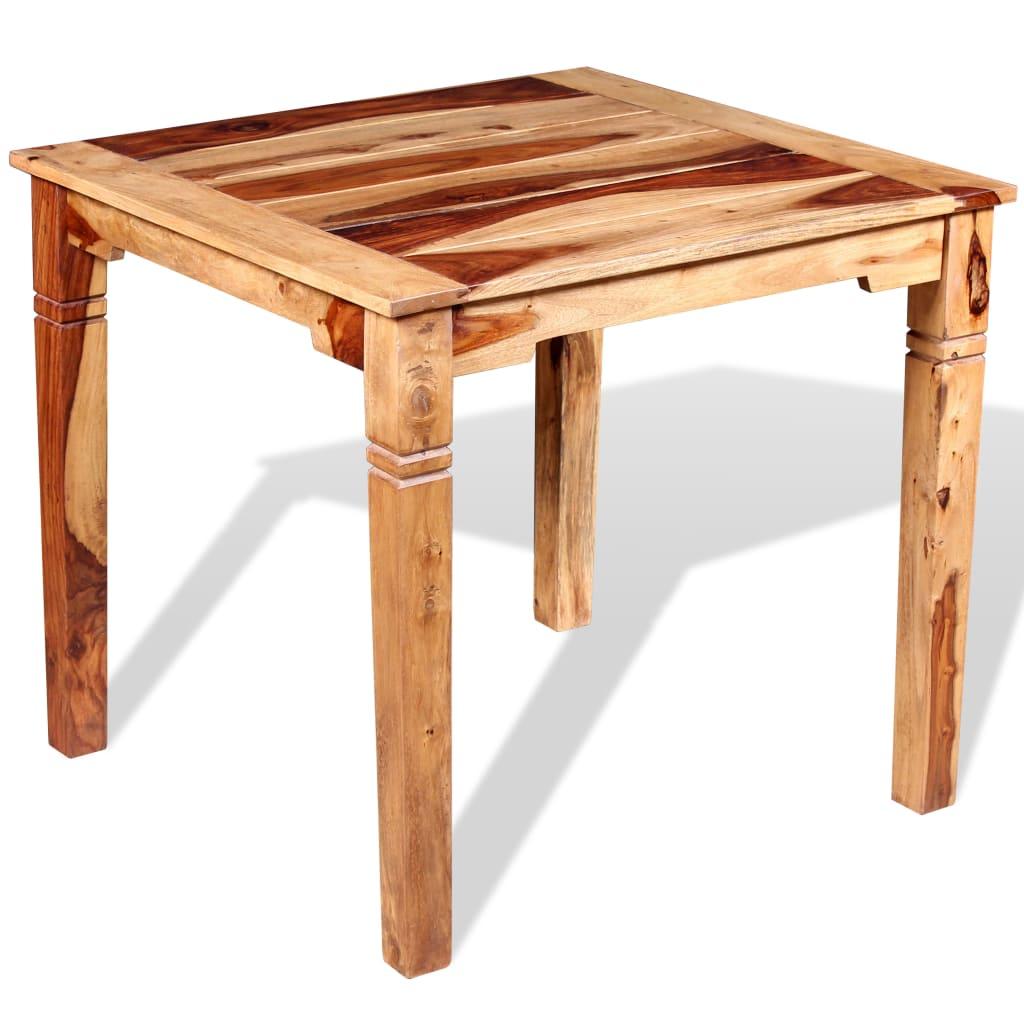 vidaXL Stół jadalniany z drewna sheesham, 82 x 80 76 cm