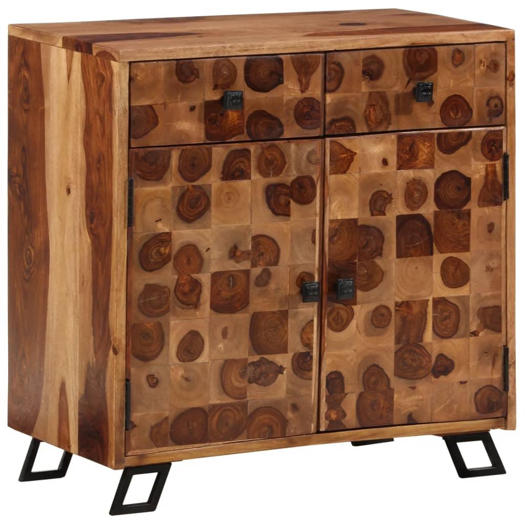 vidaXL Kredens z litego drewna sheesham, 65 x 35 cm