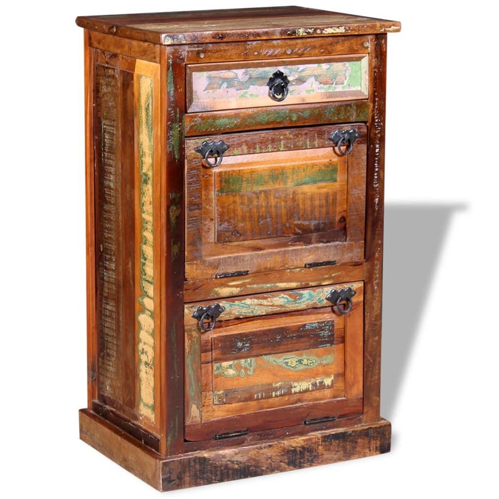 vidaXL Szafka na buty, 4-półki i szuflada, solidne drewno z odzysku