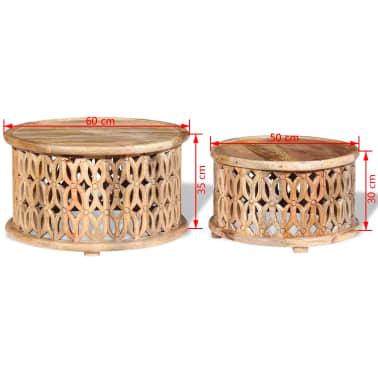 vidaxl couchtisch set 2 teilig aus massivem mangoholz im vidaxl trendshop. Black Bedroom Furniture Sets. Home Design Ideas