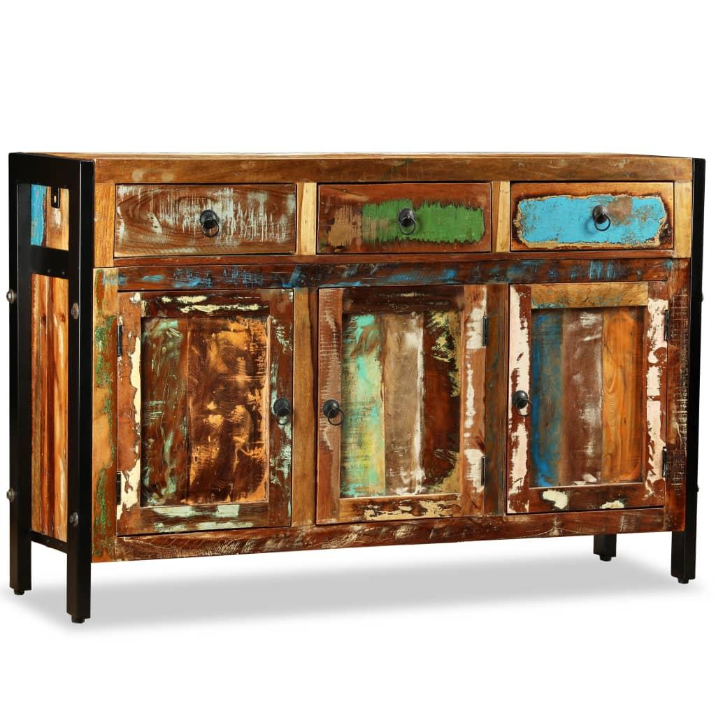 vidaXL újrahasznosított, tömör fa tálaló 120 x 35 76 cm
