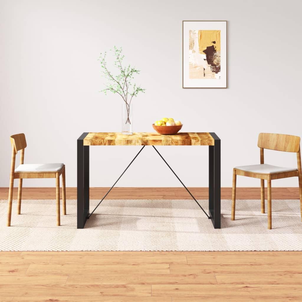 vidaXL tömör nyers mangófa étkezőasztal 120 cm