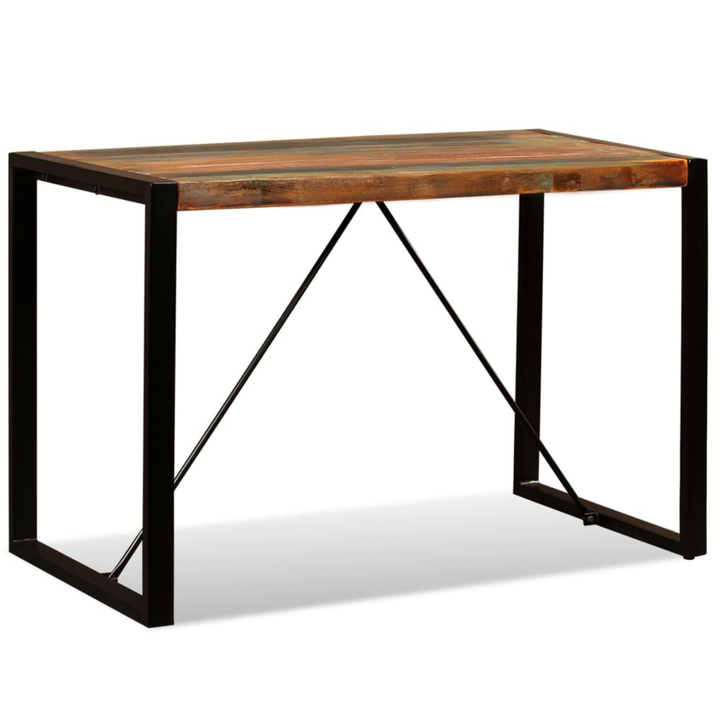 vidaXL Stół do jadalni z litego drewna odzyskanego, 120 cm