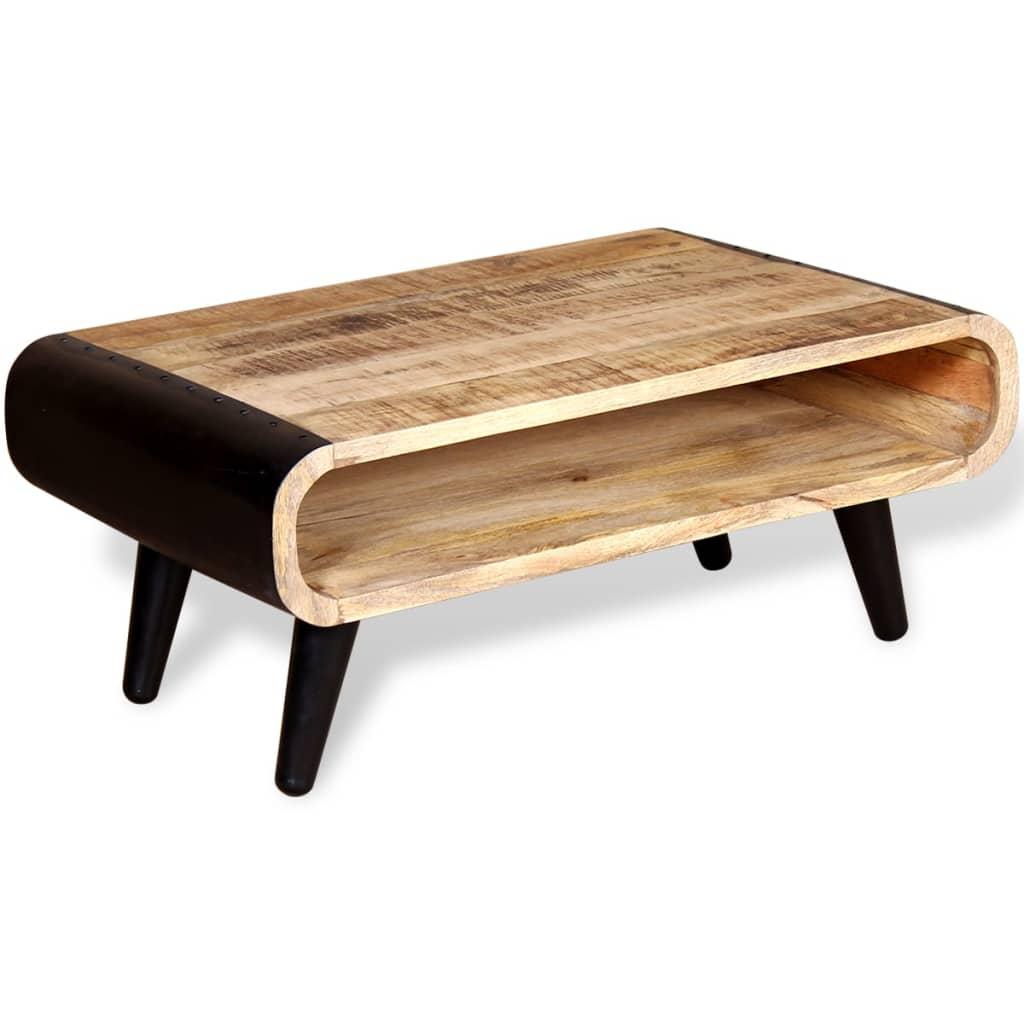 Vidaxl Coffee Table Rough Mango Wood 90x55x39 Cm