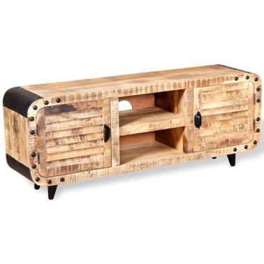 acheter vidaxl meuble tv bois de manguier massif 120 x 30 x 50 cm pas cher. Black Bedroom Furniture Sets. Home Design Ideas