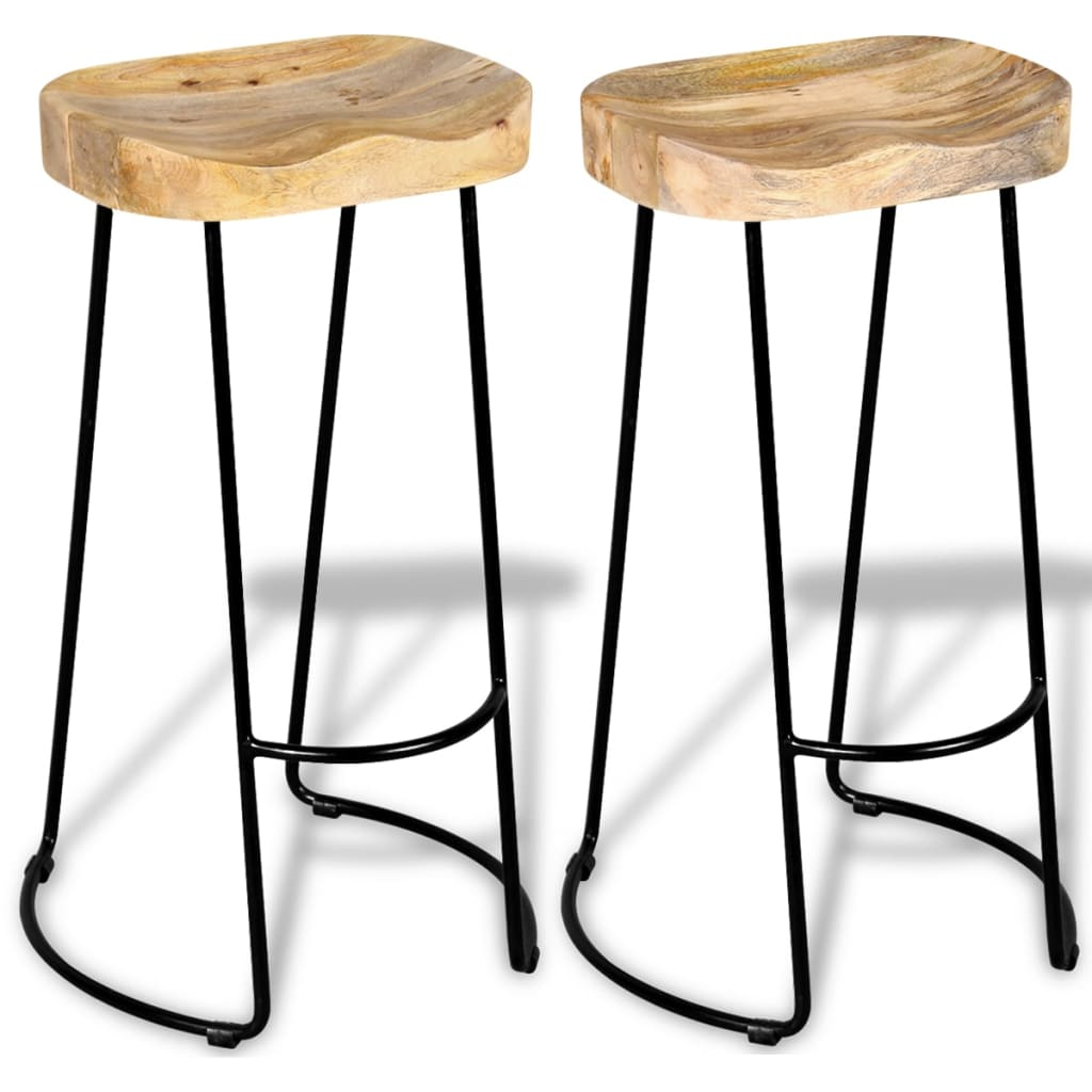 vidaXL Gavin Bar Stools 2 pcs Solid Mango Wood vidaXLcouk : image from www.vidaxl.co.uk size 1024 x 1024 jpeg 78kB