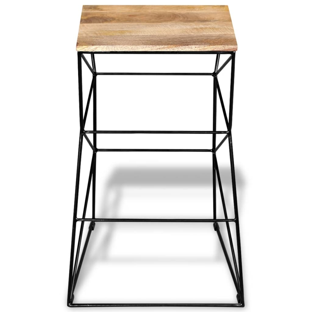 acheter vidaxl tabouret de bar bois de manguier massif pas. Black Bedroom Furniture Sets. Home Design Ideas