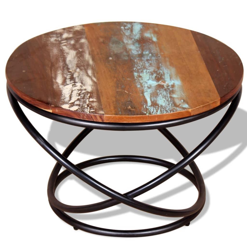 Vidaxl mesa de centro de madera maciza reciclada 60x60x40 - Mesa centro madera maciza ...