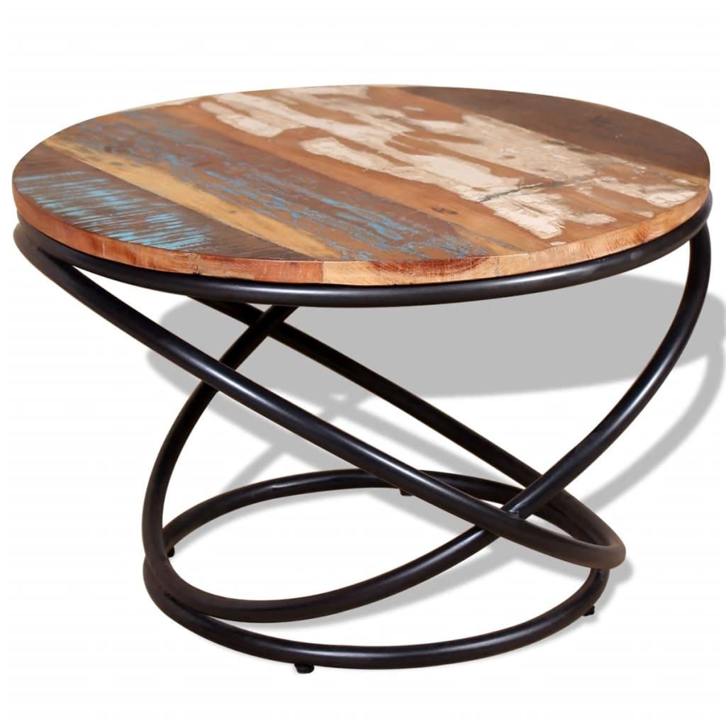 244015 Vidaxl Coffee Table Solid Reclaimed Wood 60x60x40 Cm