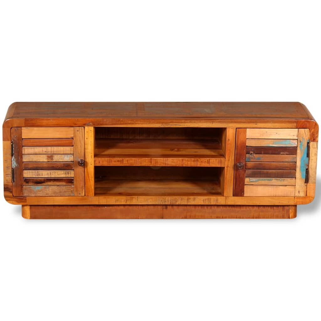 244018 vidaxl tv cabinet solid reclaimed wood 120x30x40 cm for Sideboard tiefe 30 cm