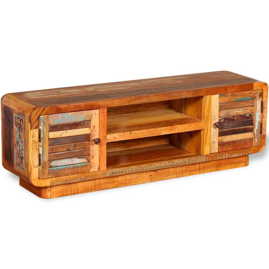 Vidaxl mueble para tv de madera reciclada 120x30x40 cm for Muebles de madera reciclada para cocina