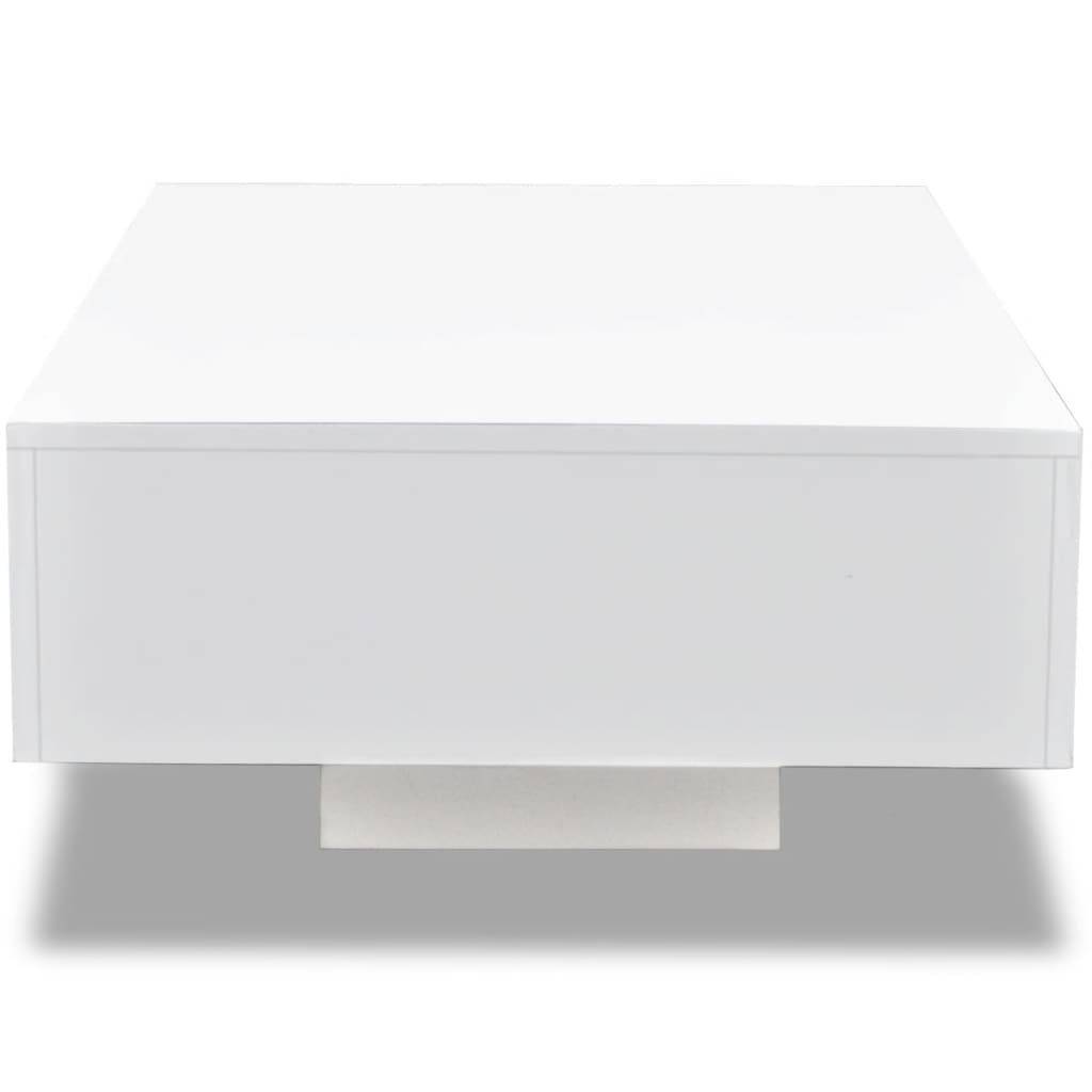 Vidaxl High Gloss Coffee Table White: VidaXL Coffee Table Modern Living Room Furniture Home