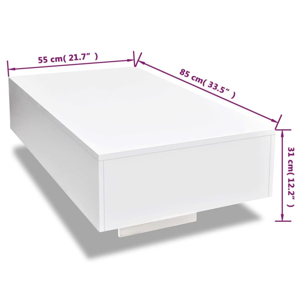 Vidaxl High Gloss Coffee Table White: VidaXL Coffee Table Modern Living Room Furniture Home