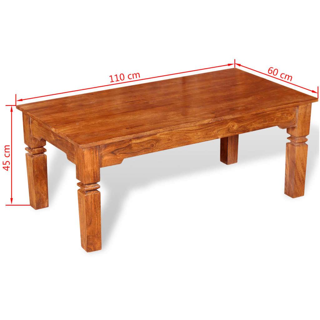 acheter vidaxl table basse bois massif 110 x 60 x 45 cm pas cher. Black Bedroom Furniture Sets. Home Design Ideas