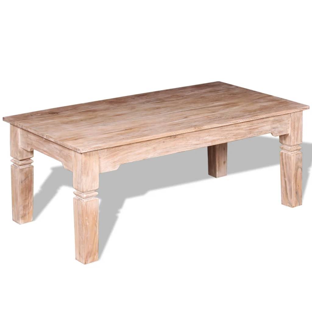 Acheter vidaxl table basse bois d 39 acacia 110 x 60 x 45 cm - Table basse en acacia ...
