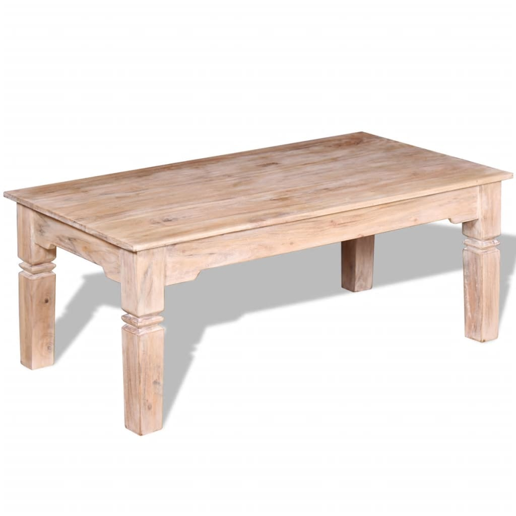 Vidaxl Coffee Table Acacia Wood 110x60x45 Cm