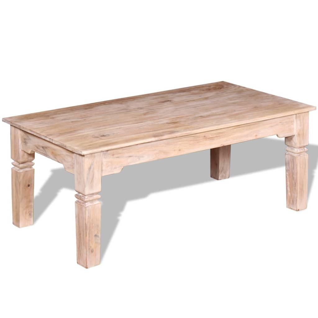 vidaXL Tömör akácfa dohányzóasztal 110x60x45 cm