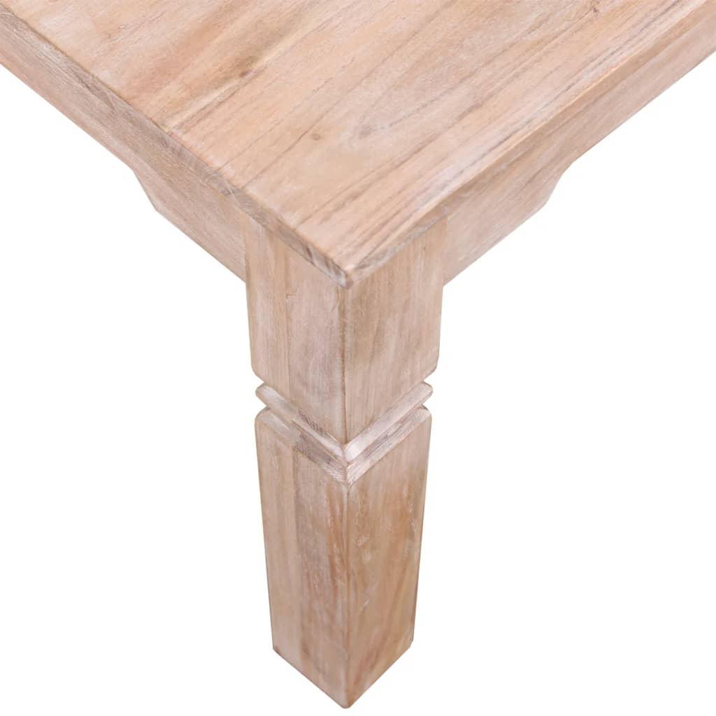 Vidaxl coffee table acacia wood 60x60x45 cm - Table largeur 60 cm ...