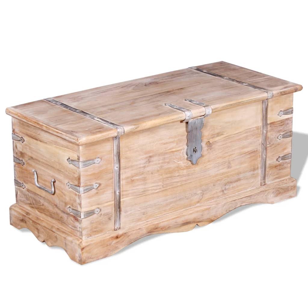 acheter vidaxl coffre de rangement bois d 39 acacia pas cher. Black Bedroom Furniture Sets. Home Design Ideas