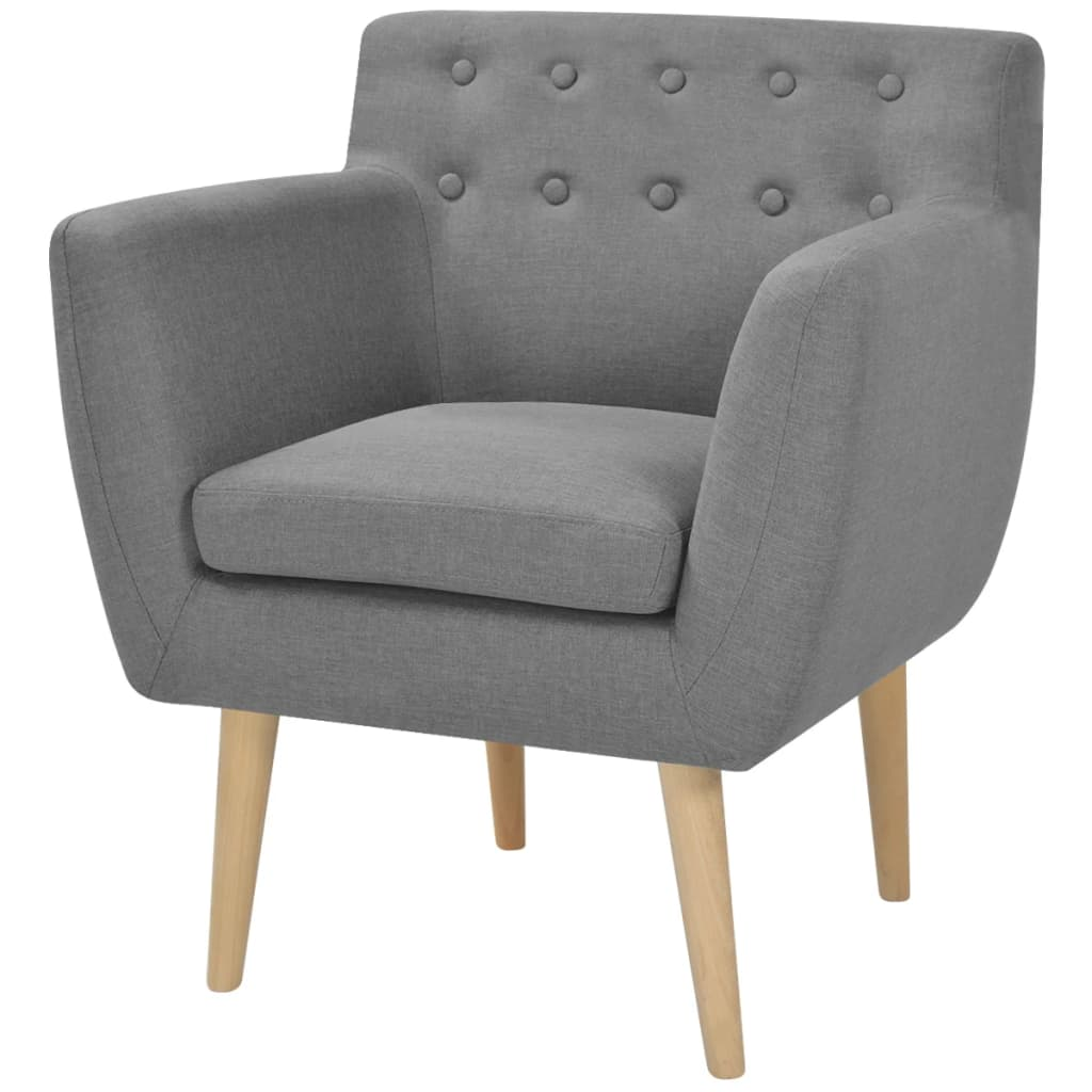 vidaXL-Armchair-Single-Sofa-French-Couch-Furniture-Padded-Fabric-Multi-Colours