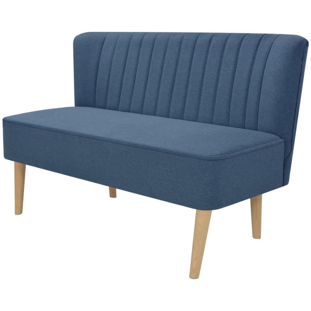 vidaXL Kék szövet kanapé 117x55,5x77cm
