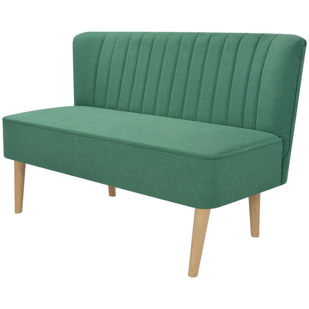 vidaXL Szövet kanapé 117x55,5x77cm zöld