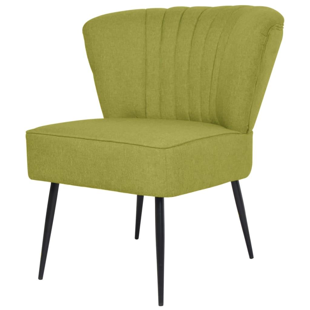 vidaXL Fotel koktajlowy zielony