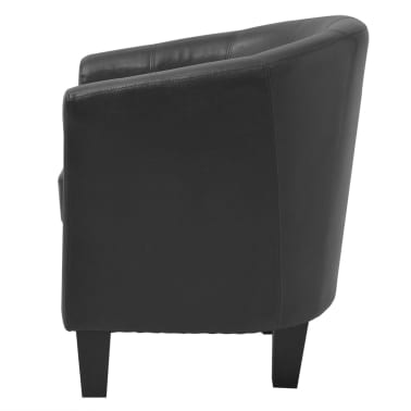 vidaxl sessel kunstleder schwarz im vidaxl trendshop. Black Bedroom Furniture Sets. Home Design Ideas