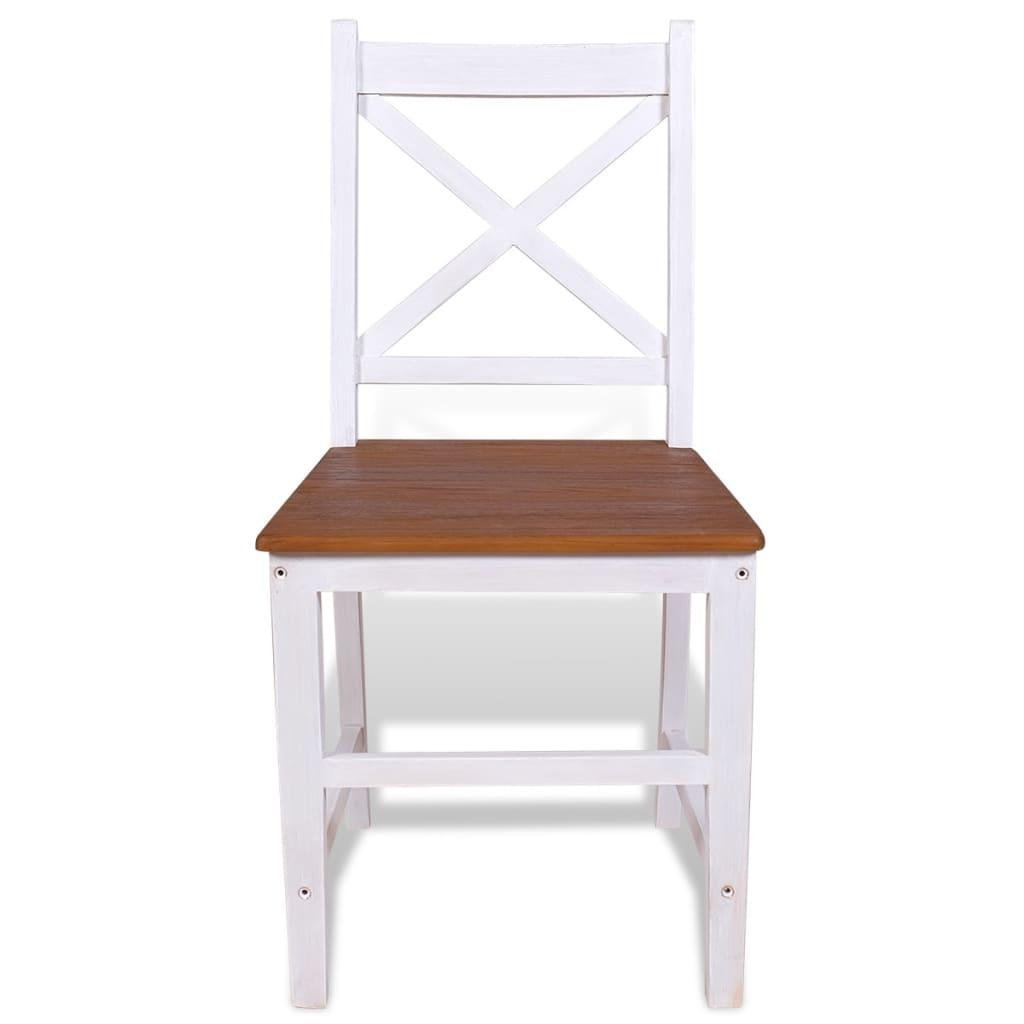 Acheter vidaxl chaise de salle manger 4 pcs bois de teck for Salle a manger bois massif pas cher