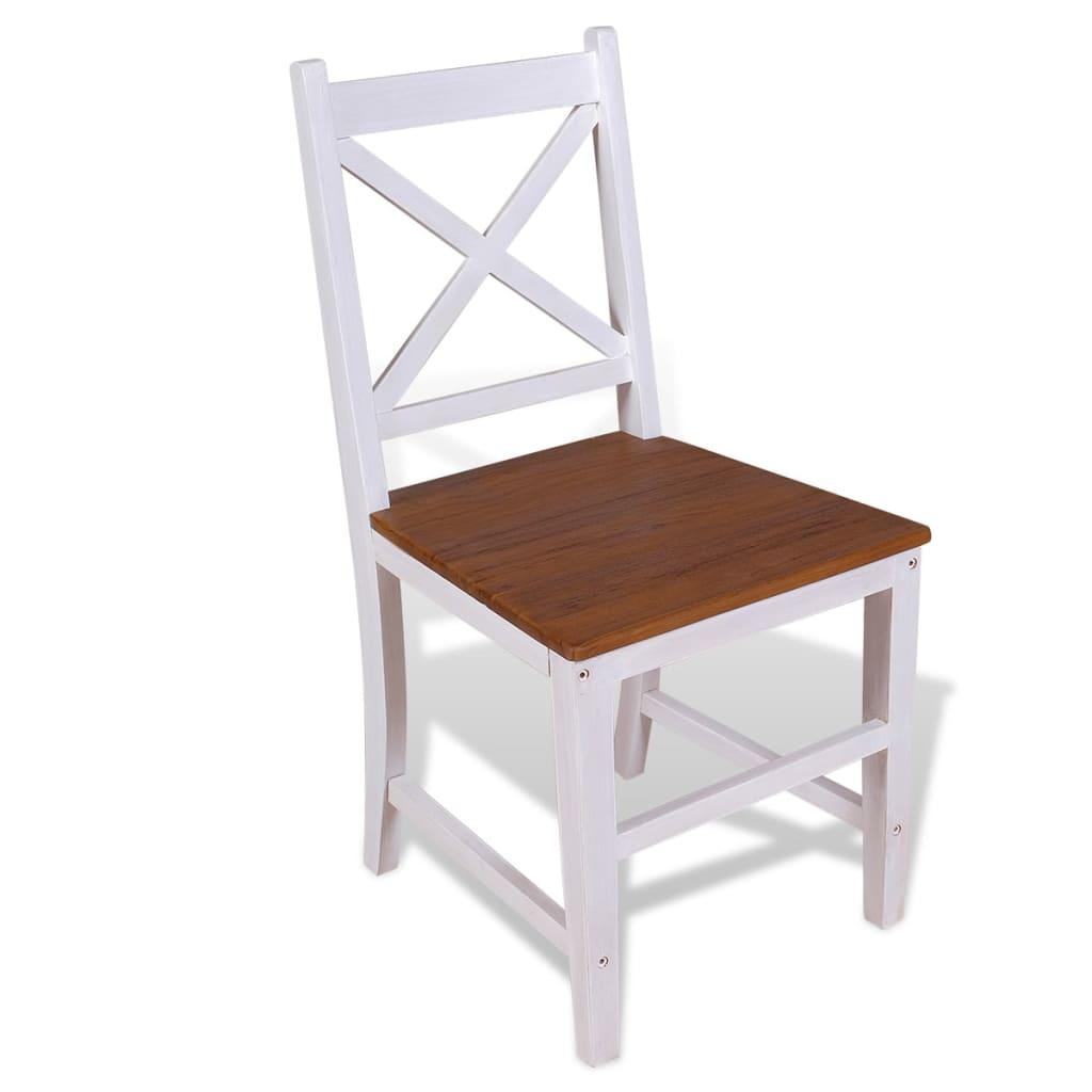 Vidaxl sedie da pranzo 4 pz in teak massello e mogano for Sedie a buon prezzo